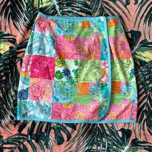 LILLY PULITZER Reversible Wrap Skirt Size 4